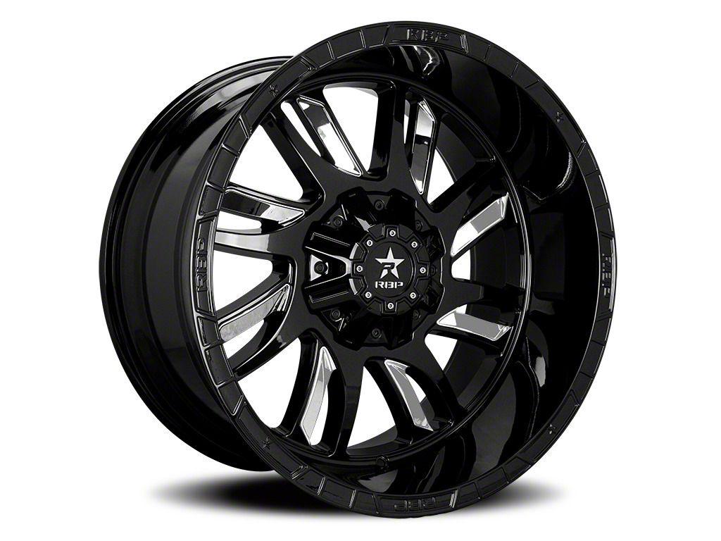 RBP 69R Swat Black w/ Chrome Inserts 5-Lug Wheel - 22x12 (02-18 RAM 1500, Excluding Mega Cab)