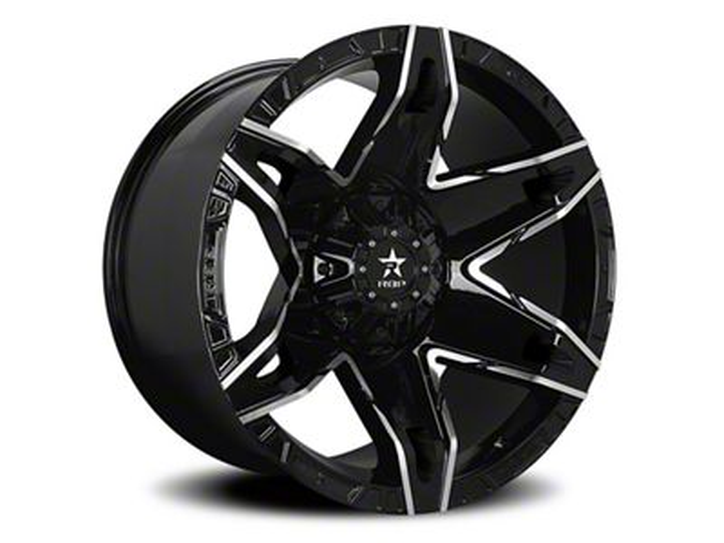 RBP 70R Quantum Gloss Black w/ Machined Grooves 5-Lug Wheel - 22x12 (02-18 RAM 1500, Excluding Mega Cab)