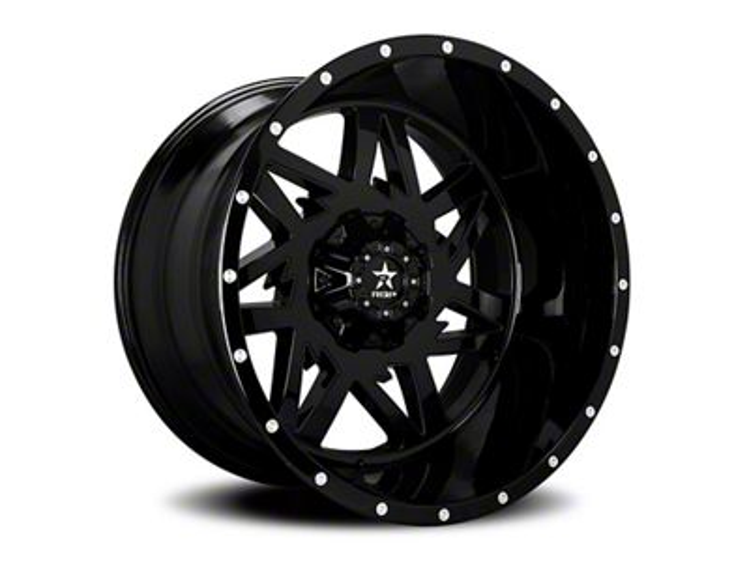 RBP 71R Avenger Gloss Black 5-Lug Wheel - 22x12 (02-18 RAM 1500, Excluding Mega Cab)