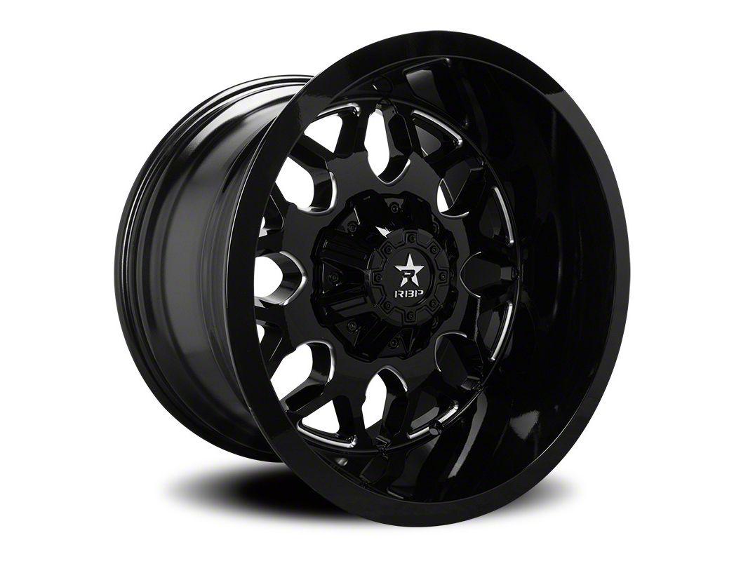 RBP 73R Atomic Gloss Black w/ Machined Grooves 5-Lug Wheel - 24x14 (02-18 RAM 1500, Excluding Mega Cab)