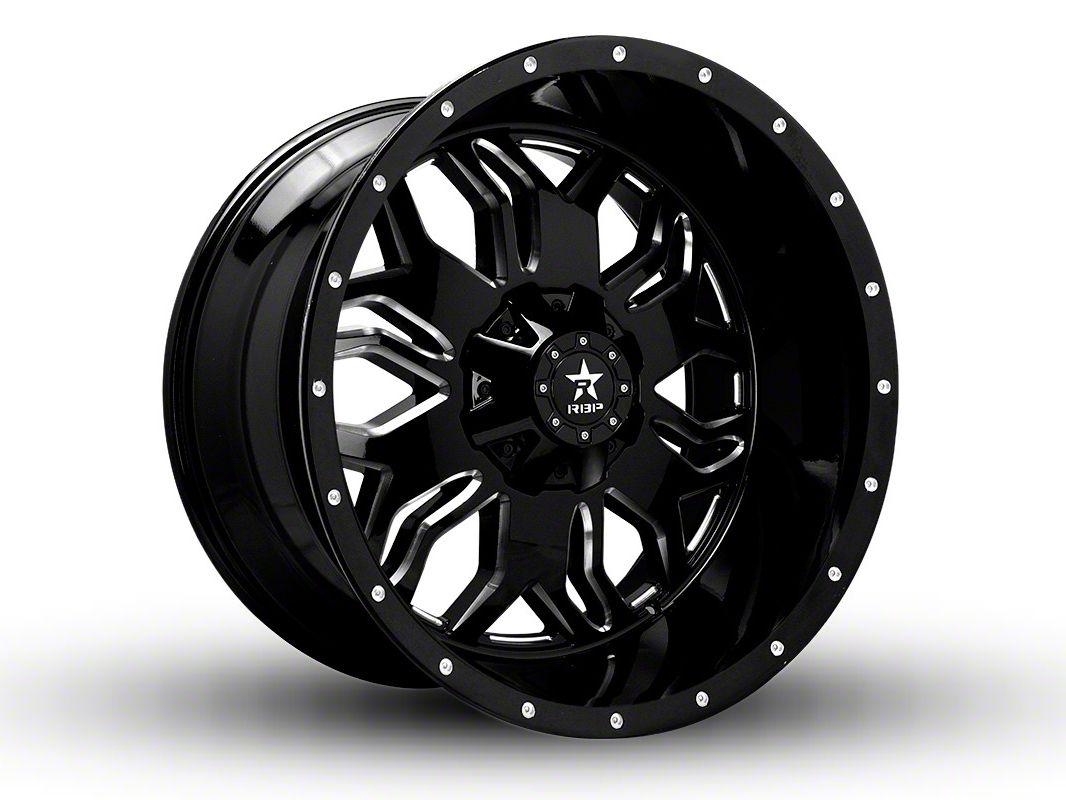 RBP 87R Blade Gloss Black w/ Machined Grooves 5-Lug Wheel - 22x12 (02-18 RAM 1500, Excluding Mega Cab)