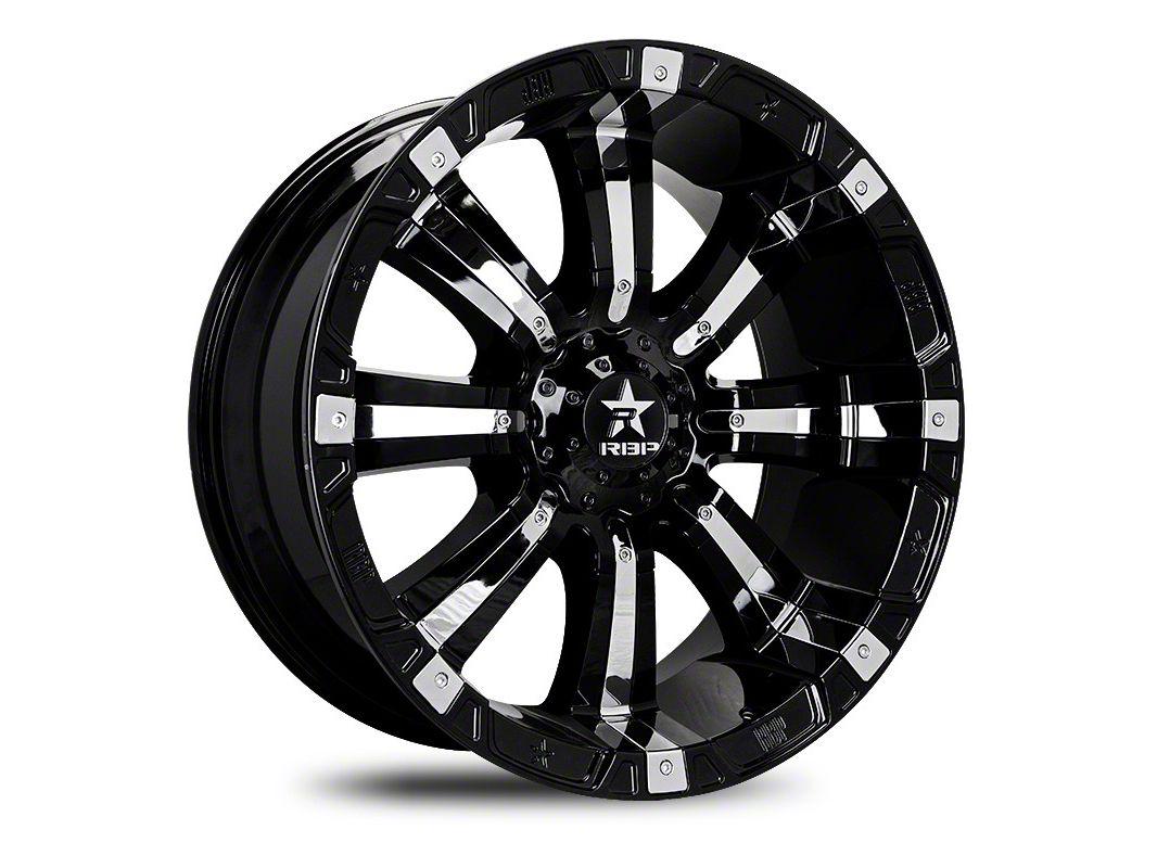 RBP 94R Black w/ Chrome Inserts 5-Lug Wheel - 22x12 (02-18 RAM 1500, Excluding Mega Cab)