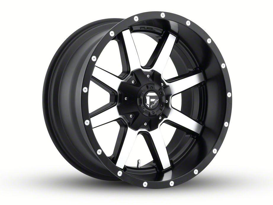 Fuel Wheels Maverick Black Machined 5-Lug Wheel - 22x10 (02-18 RAM 1500, Excluding Mega Cab)