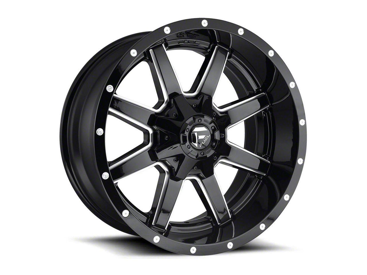 Fuel Wheels Maverick Gloss Black Milled 5-Lug Wheel - 18x9 (02-18 RAM 1500, Excluding Mega Cab)