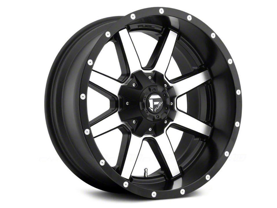 Fuel Wheels Maverick Black Machined 5-Lug Wheel - 18x9 (02-18 RAM 1500, Excluding Mega Cab)