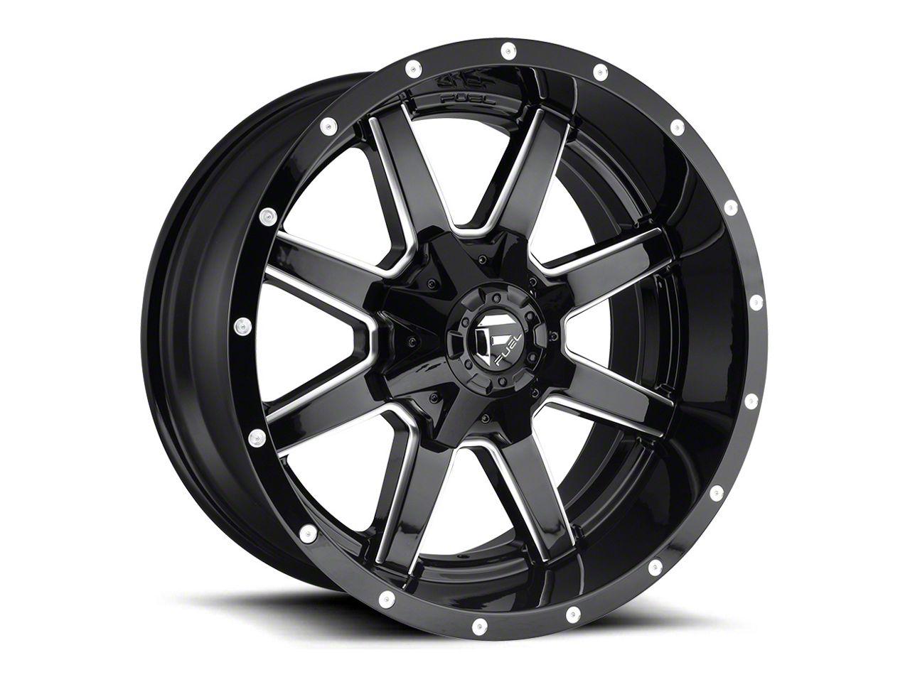 Fuel Wheels Maverick Gloss Black Milled 5-Lug Wheel - 20x10 (02-18 RAM 1500, Excluding Mega Cab)