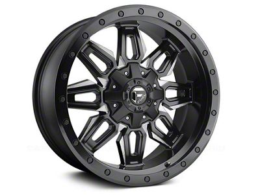 Fuel Wheels Neutron Matte Black Milled 5-Lug Wheel - 18x9 (02-18 RAM 1500, Excluding Mega Cab)