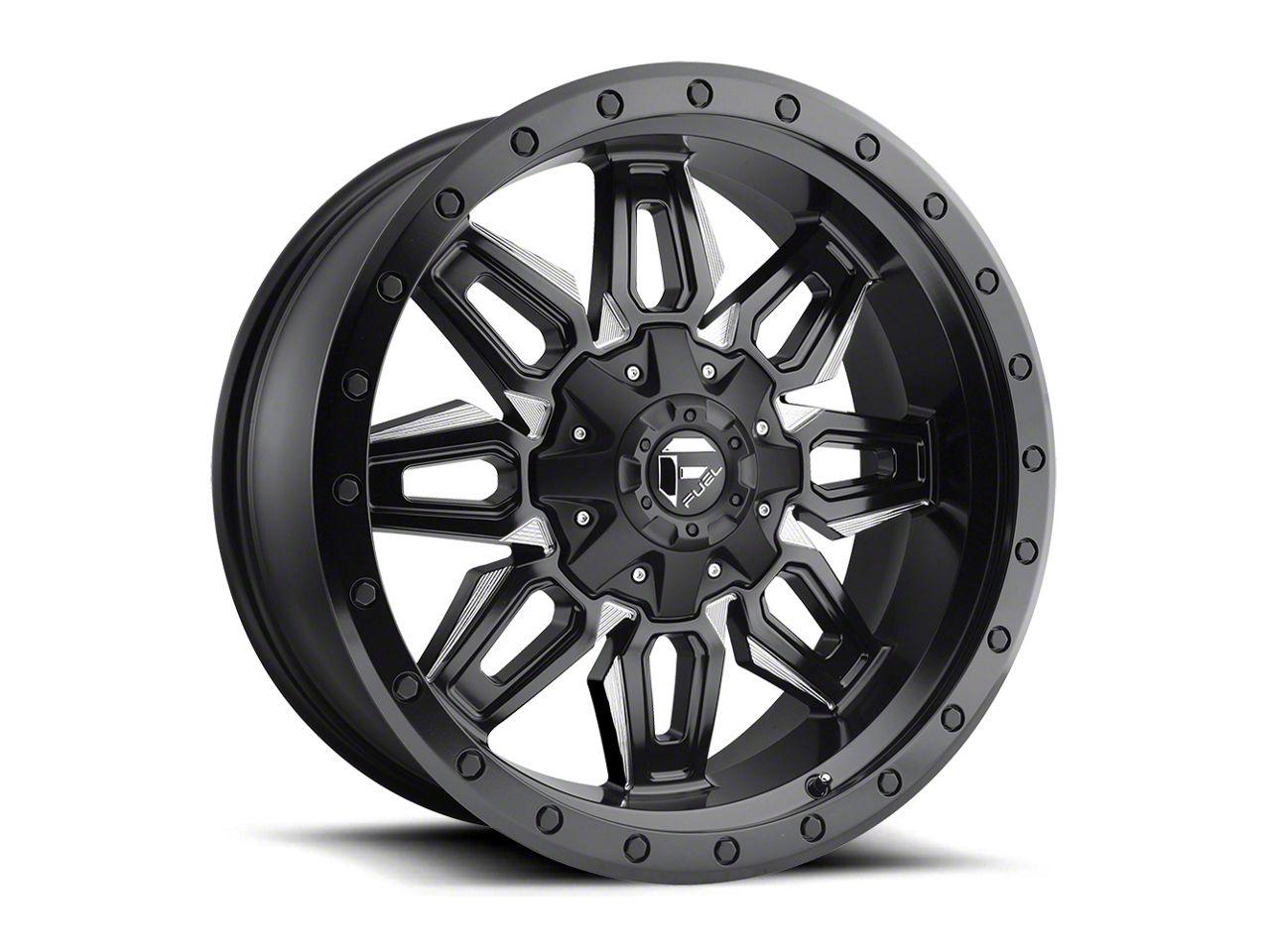 Fuel Wheels Neutron Matte Black Milled 5-Lug Wheel - 20x9 (02-18 RAM 1500, Excluding Mega Cab)