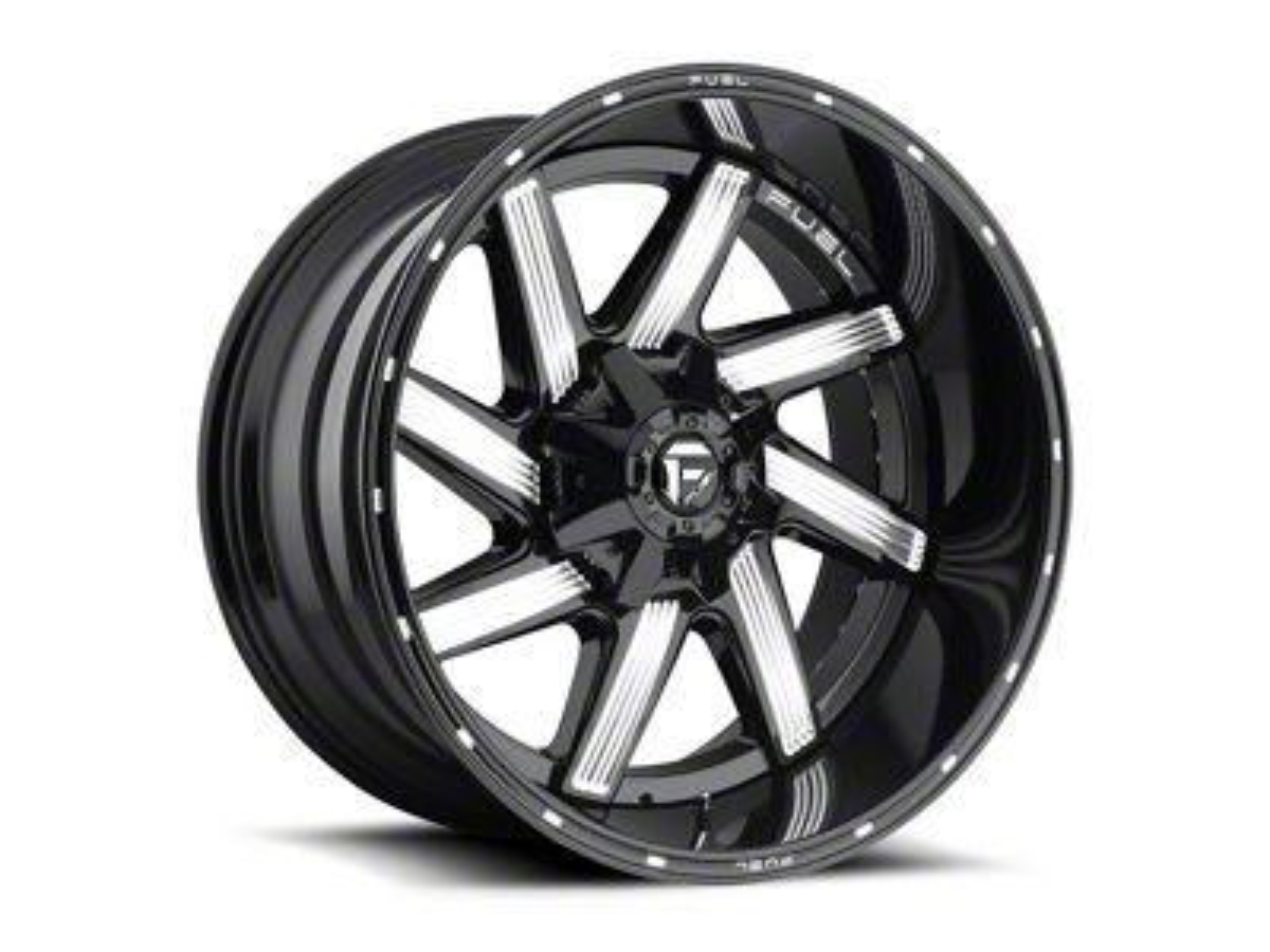 Fuel Wheels Moab Gloss Black Milled 5-Lug Wheel - 20x12 (02-18 RAM 1500, Excluding Mega Cab)