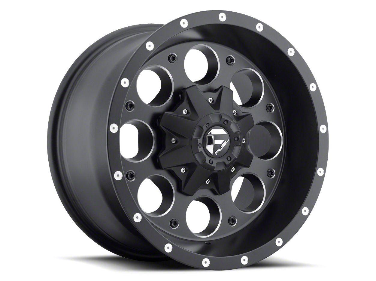Fuel Wheels Revolver Black Milled 5-Lug Wheel - 17x9 (02-18 RAM 1500, Excluding Mega Cab)