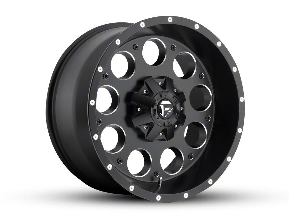 Fuel Wheels Revolver Black Milled 5-Lug Wheel - 20x10 (02-18 RAM 1500, Excluding Mega Cab)