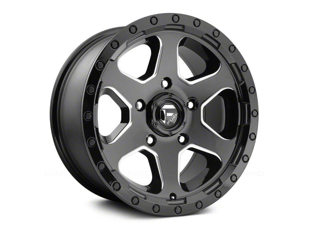 Fuel Wheels Ripper Gloss Black Milled 5-Lug Wheel - 17x9 (02-18 RAM 1500, Excluding Mega Cab)