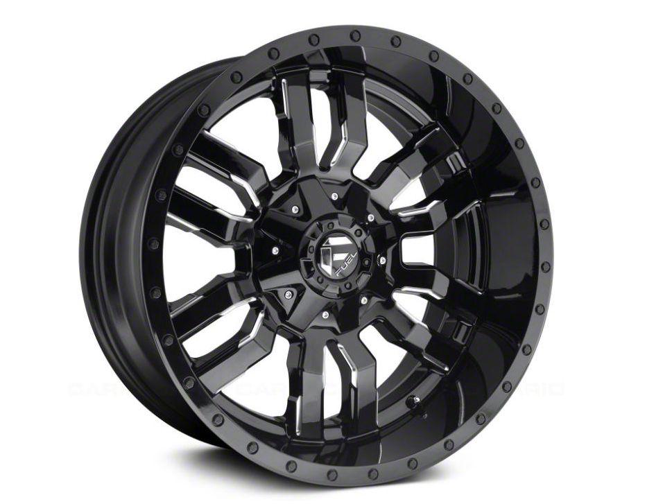 Fuel Wheels Sledge Gloss Black Milled 5-Lug Wheel - 18x9 (02-18 RAM 1500, Excluding Mega Cab)