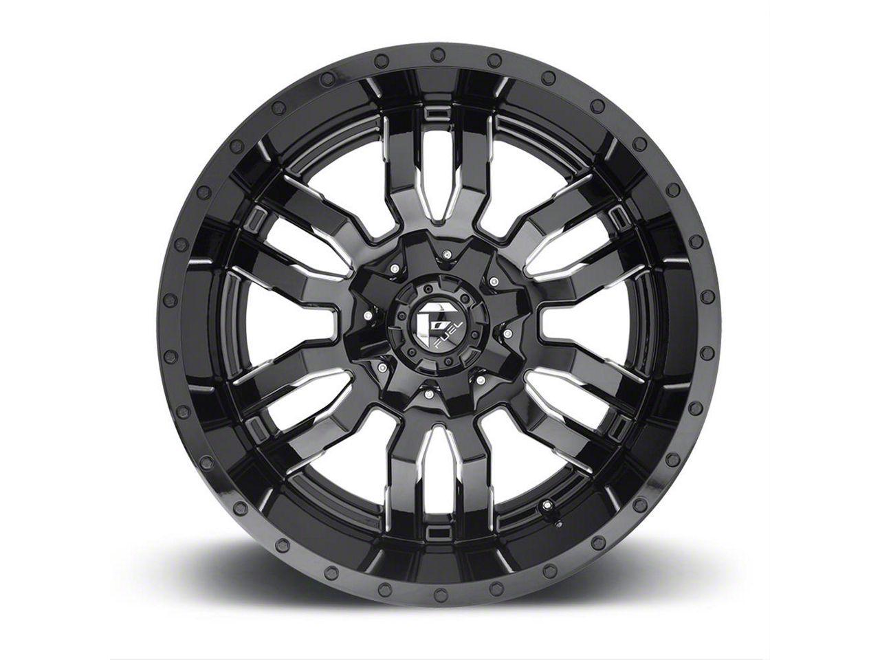 Fuel Wheels Sledge Gloss Black Milled 5-Lug Wheel - 20x9 (02-18 RAM 1500, Excluding Mega Cab)
