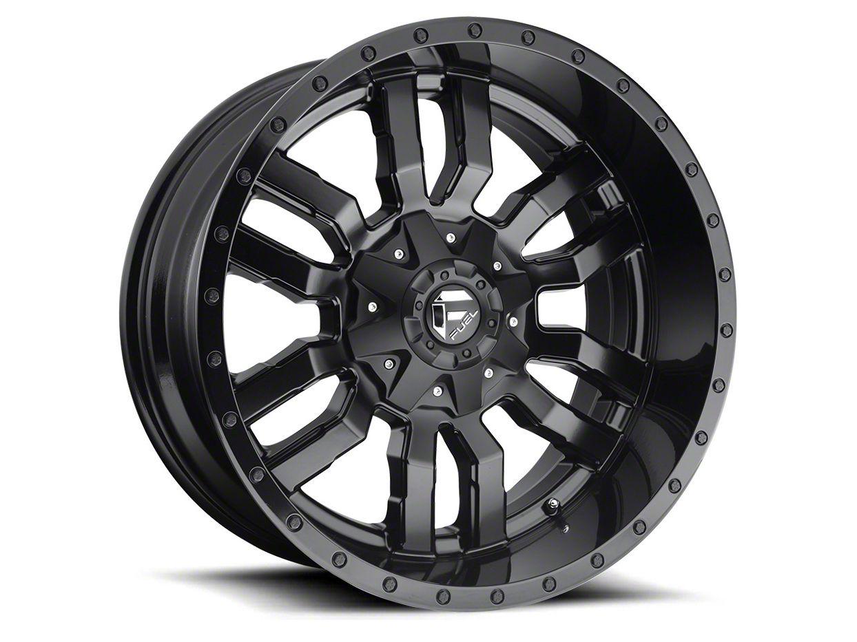 Fuel Wheels Sledge Gloss & Matte Black 5-Lug Wheel - 17x9 (02-18 RAM 1500, Excluding Mega Cab)