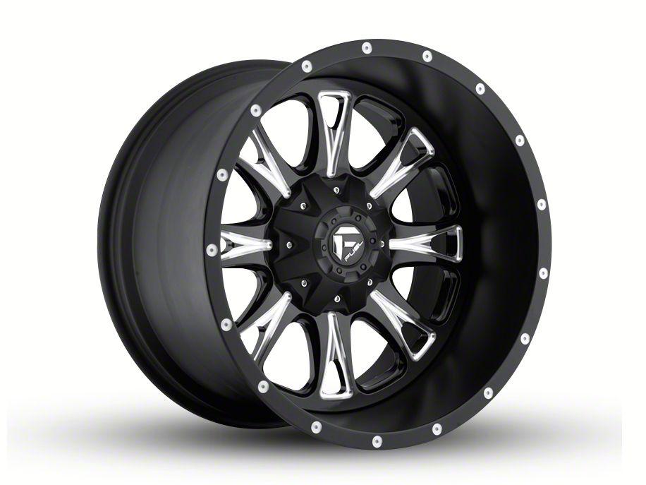 Fuel Wheels Throttle Black Milled 5-Lug Wheel - 20x12 (02-18 RAM 1500, Excluding Mega Cab)