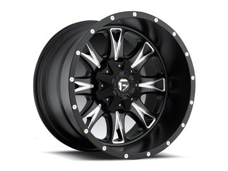 Fuel Wheels Throttle Black Milled 5-Lug Wheel - 22x14 (02-18 RAM 1500, Excluding Mega Cab)