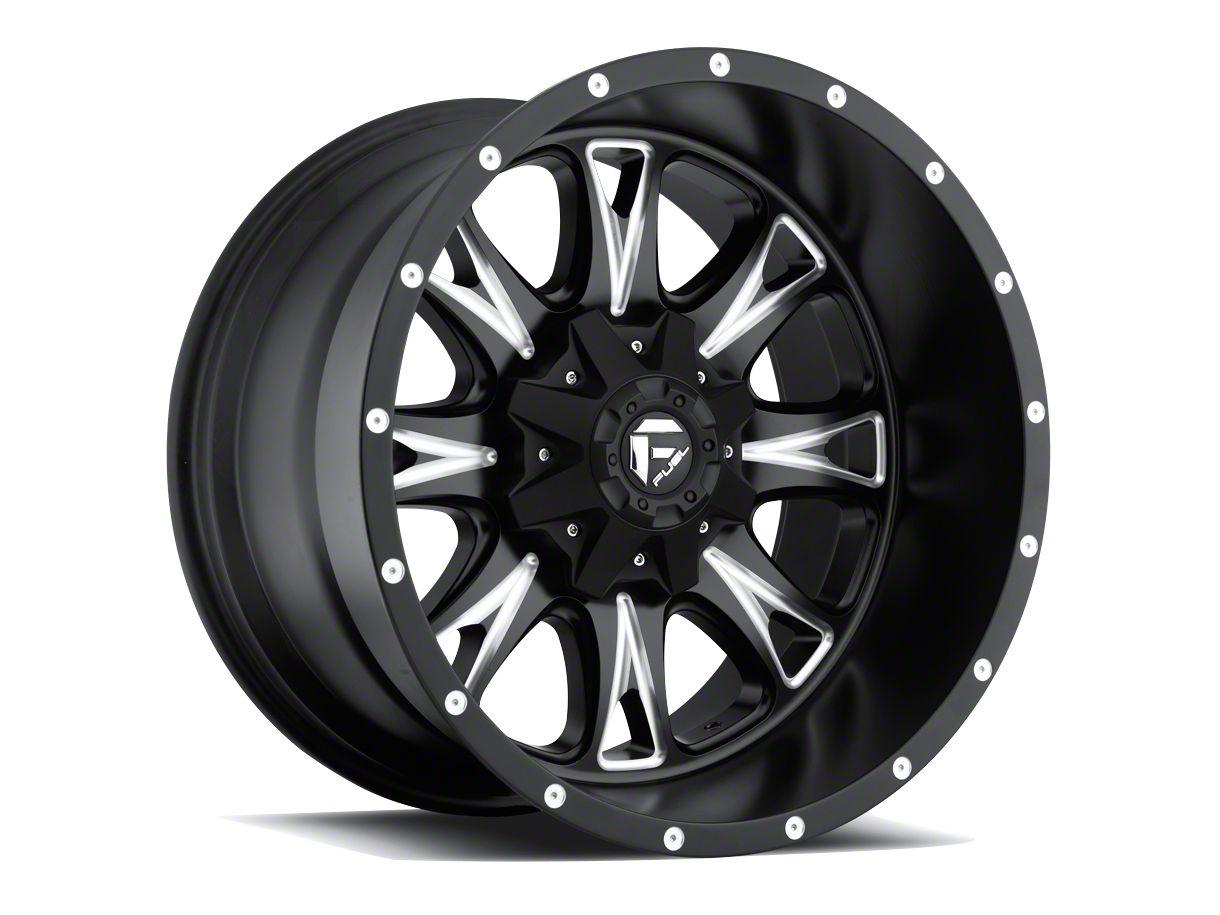 Fuel Wheels Throttle Black Milled 5-Lug Wheel - 18x10 (02-18 RAM 1500, Excluding Mega Cab)