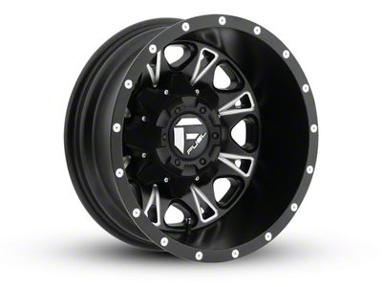 Fuel Wheels Throttle Black Milled 5-Lug Wheel - 20x10 (02-18 RAM 1500, Excluding Mega Cab)