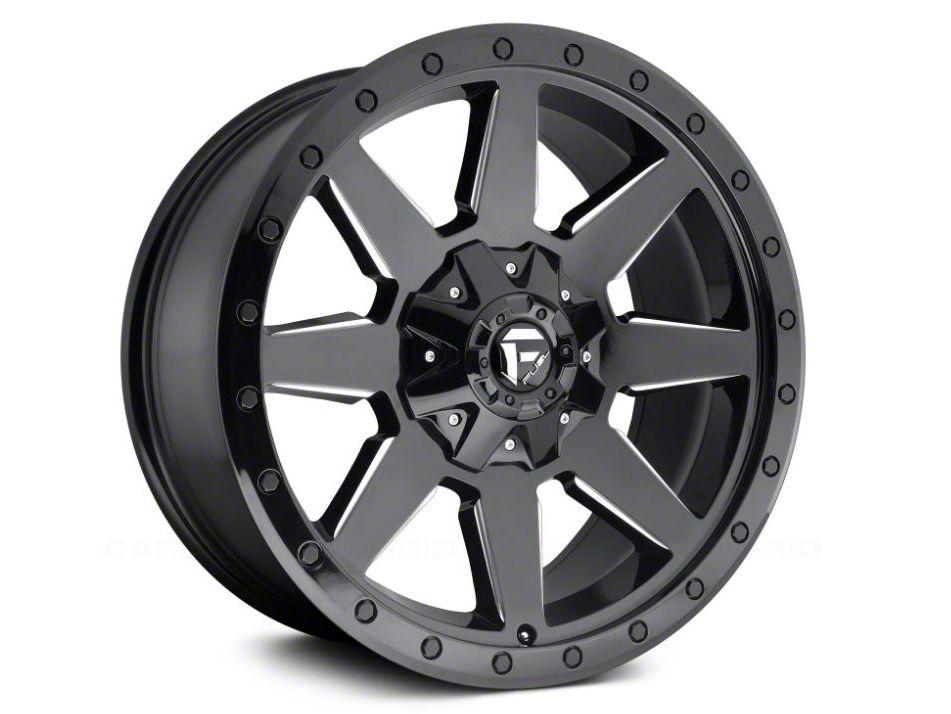 Fuel Wheels Wildcat Gloss Black Milled 5-Lug Wheel - 17x9 (02-18 RAM 1500, Excluding Mega Cab)