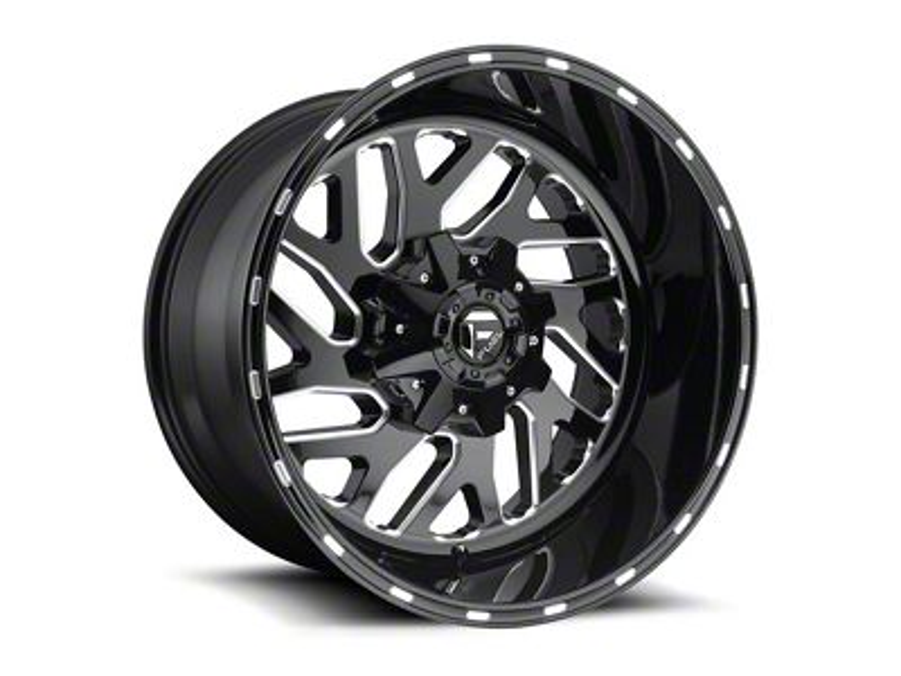 Fuel Wheels Triton Gloss Black Milled 5-Lug Wheel - 20x12 (02-18 RAM 1500, Excluding Mega Cab)