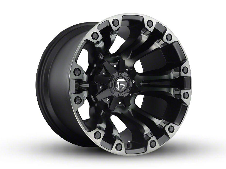 Fuel Wheels Vapor Matte Black Machined 5-Lug Wheel - 20x12 (02-18 RAM 1500, Excluding Mega Cab)