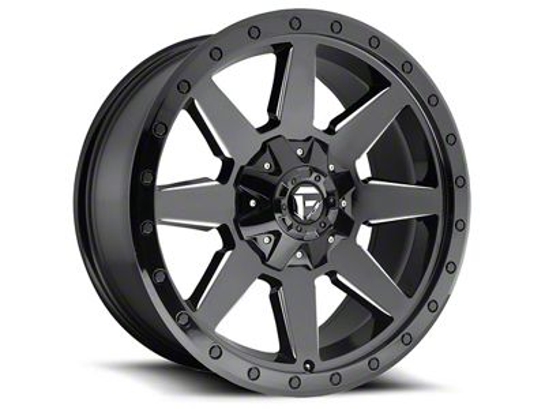 Fuel Wheels Wildcat Gloss Black Milled 5-Lug Wheel - 20x9 (02-18 RAM 1500, Excluding Mega Cab)