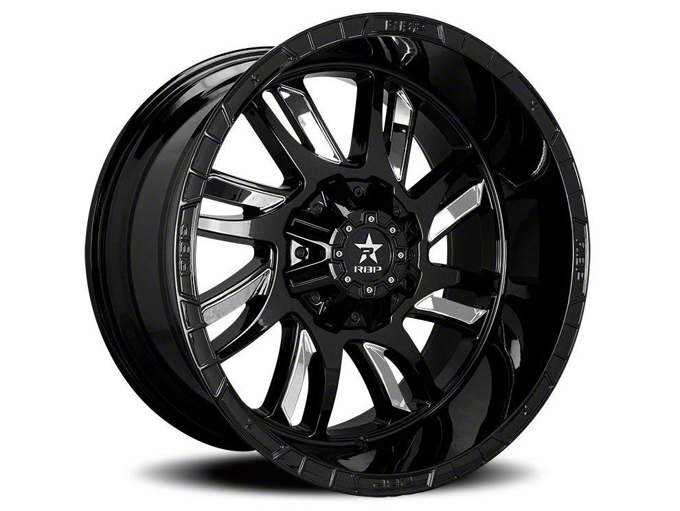 RBP 69R Swat Black w/ Chrome Inserts 5-Lug Wheel - 20x10 (02-18 RAM 1500, Excluding Mega Cab)