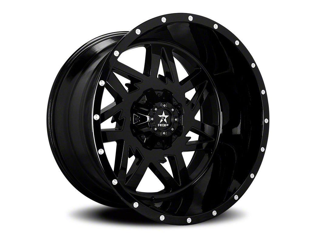RBP 71R Avenger Gloss Black 5-Lug Wheel - 20x10 (02-18 RAM 1500, Excluding Mega Cab)