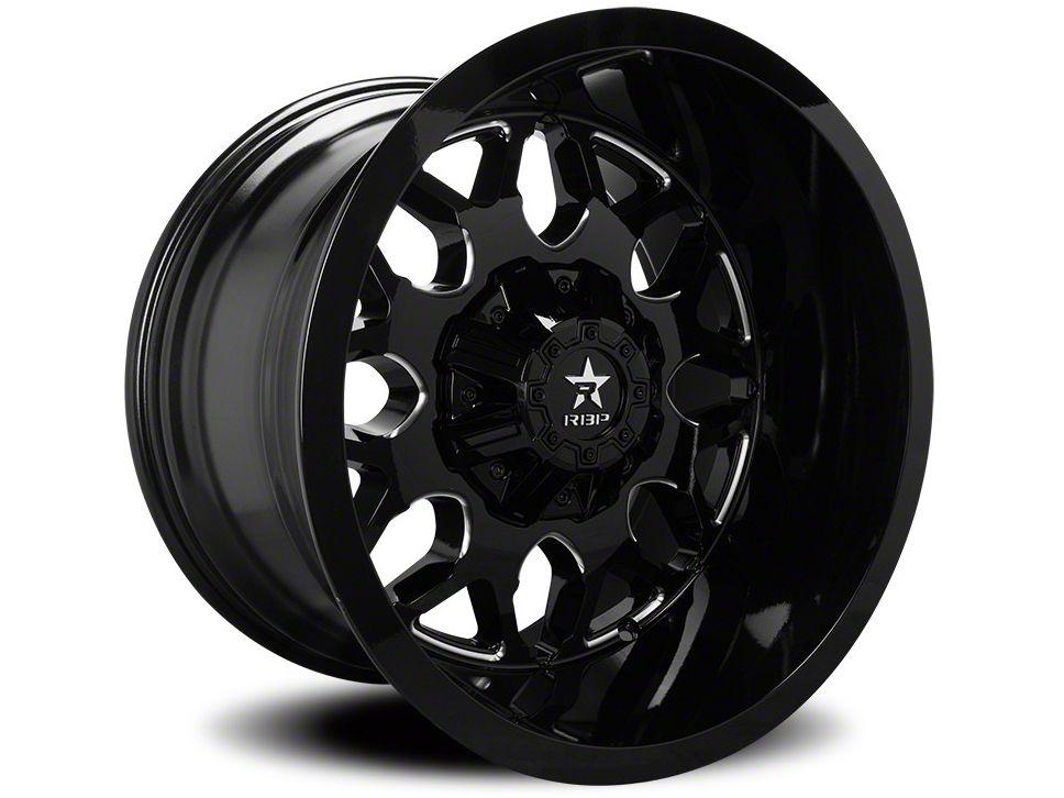 RBP 73R Atomic Gloss Black w/ Machined Grooves 5-Lug Wheel - 20x10 (02-18 RAM 1500, Excluding Mega Cab)