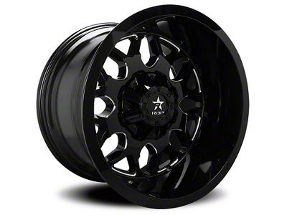 RBP 73R Atomic Gloss Black w/ Machined Grooves 5-Lug Wheel - 20x9 (02-18 RAM 1500, Excluding Mega Cab)