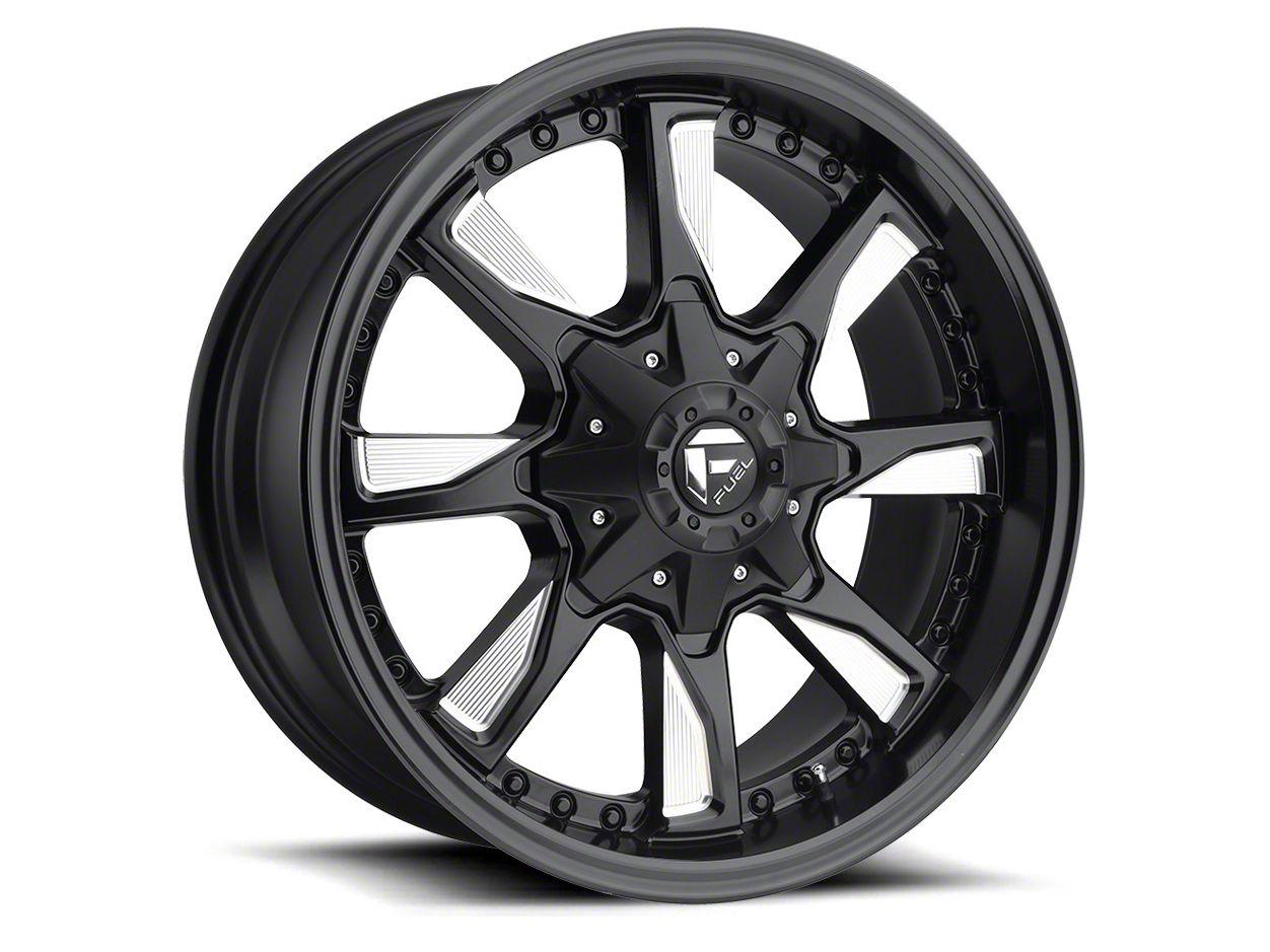 Fuel Wheels Hydro Matte Black Milled 5-Lug Wheel - 17x8.5 (02-18 RAM 1500, Excluding Mega Cab)