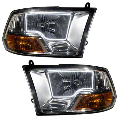 Oracle Chrome OE Style Headlights w/ LED Halos (09-13 RAM 1500, Excluding Sport)