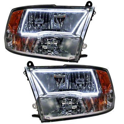 Oracle Chrome OE Style Headlights w/ LED Halos (09-18 RAM 1500 Sport)