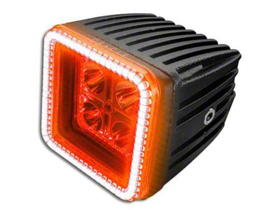 Oracle 3 in. Off-Road Series Square LED Light w/ Amber Halo - Spot Beam