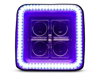 Oracle 3 in. Off-Road Series Square LED Light w/ UV/Purple Halo - Spot Beam