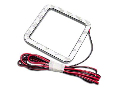 Oracle 3 in. Square Halo for Cube/Square Lights - White