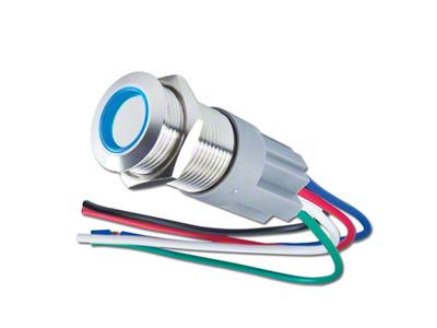 Oracle Pre-Wired Momentary Style Flush Mount LED Switch - Blue (02-19 RAM 1500)