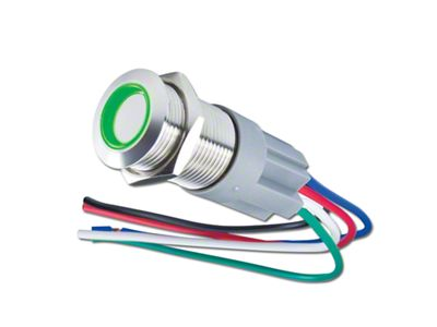 Oracle Pre-Wired Momentary Style Flush Mount LED Switch - Green (02-19 RAM 1500)