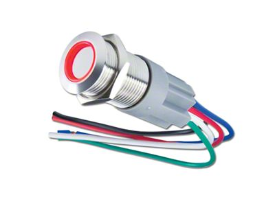 Oracle Pre-Wired Momentary Style Flush Mount LED Switch - Red (02-19 RAM 1500)