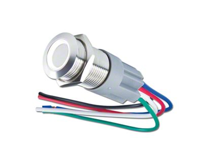 Oracle Pre-Wired Momentary Style Flush Mount LED Switch - White (02-19 RAM 1500)