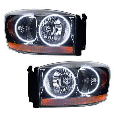 Oracle Black OE Style Headlights w/ LED Halos (2006 RAM 1500)