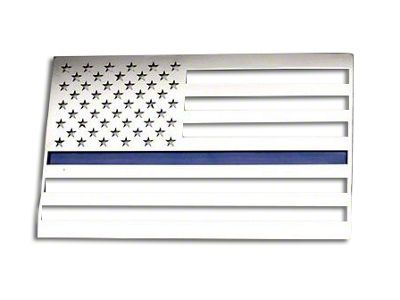 ACC Stainless Steel American Flag Emblem - Polished w/ Thin Blue Line (02-19 RAM 1500)