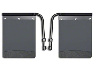 Husky Removable Pivoting Mud Flaps - Black Weight (02-19 RAM 1500)