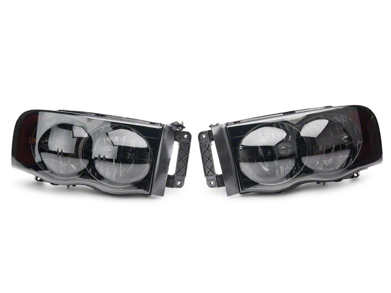 Euro Headlights - Smoked (02-05 RAM 1500)