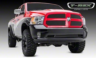 T-REX Sport Series Formed Mesh Upper Overlay Grilles - Black (13-18 RAM 1500, Excluding Rebel)
