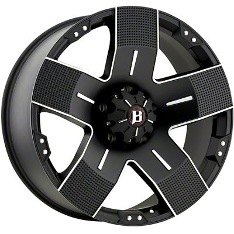 Ballistic Hyjak Flat Black 5-Lug Wheel - 18x9 (02-18 RAM 1500, Excluding Mega Cab)