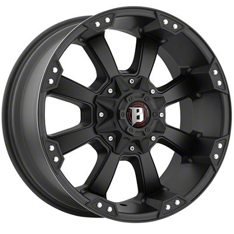 Ballistic Morax Flat Black 5-Lug Wheel - 18x9 (02-18 RAM 1500, Excluding Mega Cab)