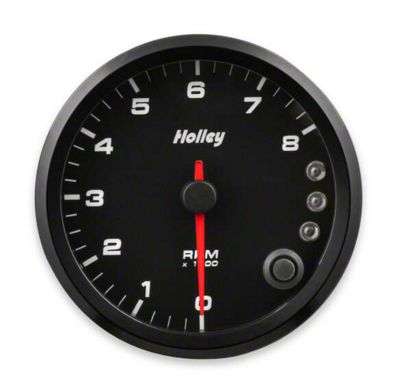 Holley Performance 3-3/8 in. Analog-Style 0-8K Tachometer - Black (02-19 RAM 1500)