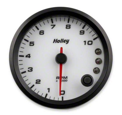 Holley Performance 3-3/8 in. Analog-Style 0-10K Tachometer - White (02-19 RAM 1500)